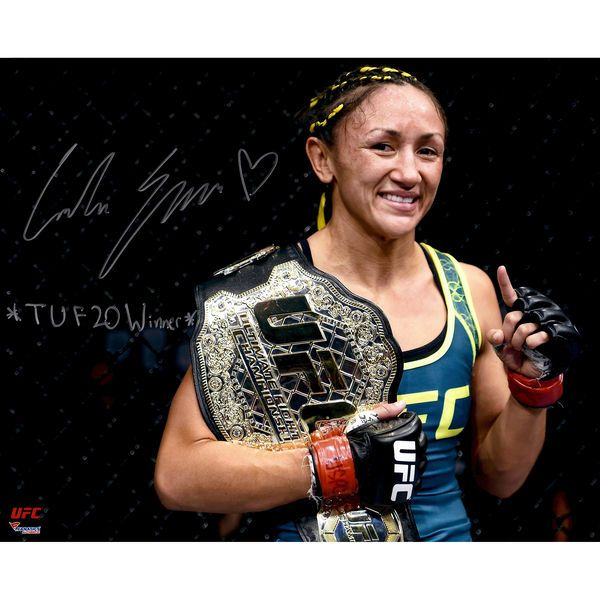 Carla Esparza Ultimate Fighting Championship Fanatics Authentic Autographed 16'' x 20'' Holding Championship Belt Photograph with TUF 20 Winner Inscription - $59.99