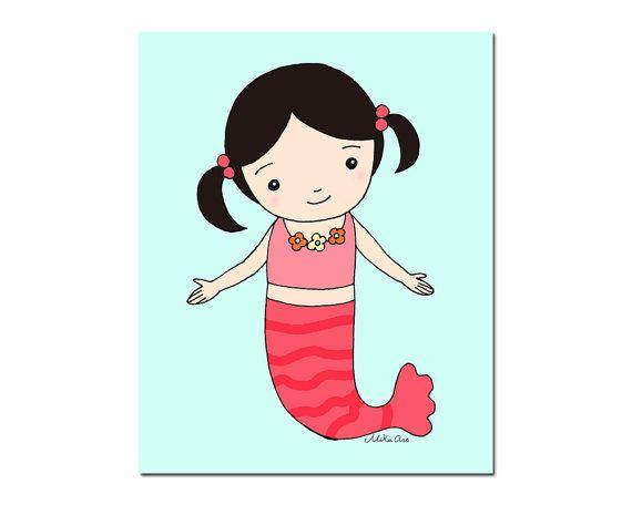 Mermaid Nursery Decor Mermaid Nursery Art Printable by mikaart Instant Download; https://www.etsy.com/ca/listing/473953511/mermaid-nursery-decor-mermaid-nursery?ref=shop_home_active_1 Print out version; http://www.zazzle.ca/mermaid_poster_mermaid_baby_girl_nursery_print-228139495955233725