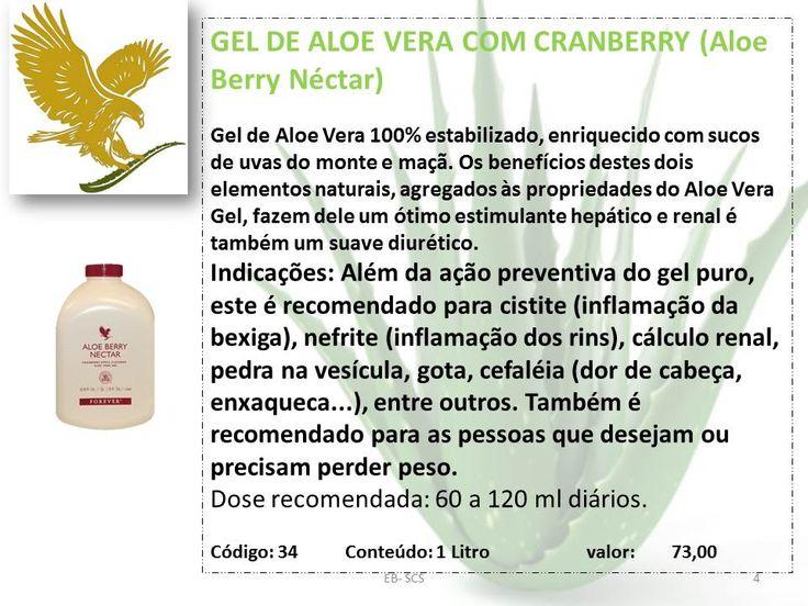 GEL DE ALOE VERA COM CRANBERRY 72,10
