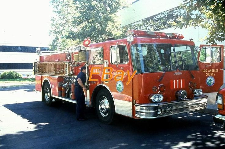 (4) LOS ANGELES COUNTY, CA FIRE SLIDES (ENGINE-111)