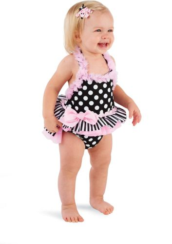 Infant baby girl swimsuit-5640