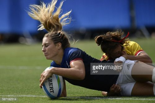 France's Marjorie Mayans scores a try in the womens rugby... #eggat: France's Marjorie Mayans scores a try in the womens rugby… #eggat
