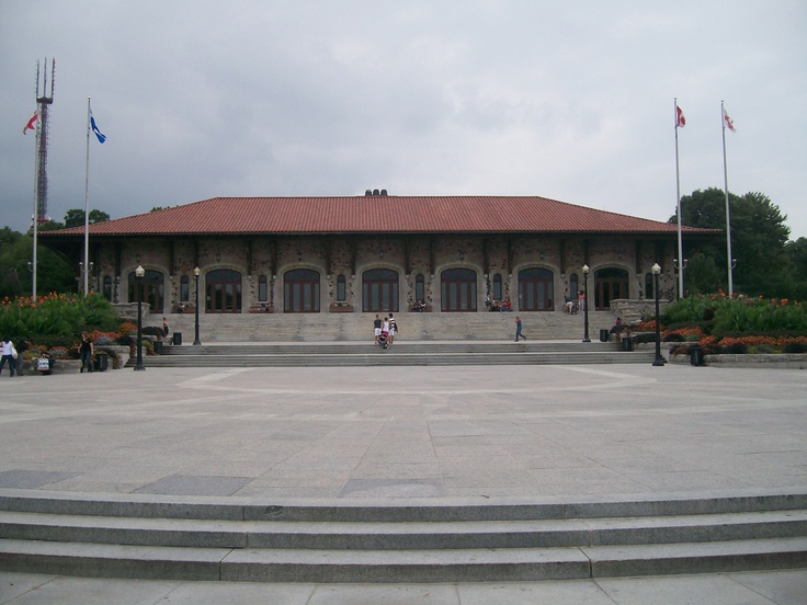 the Chalet at the top of Mount Royal lookout