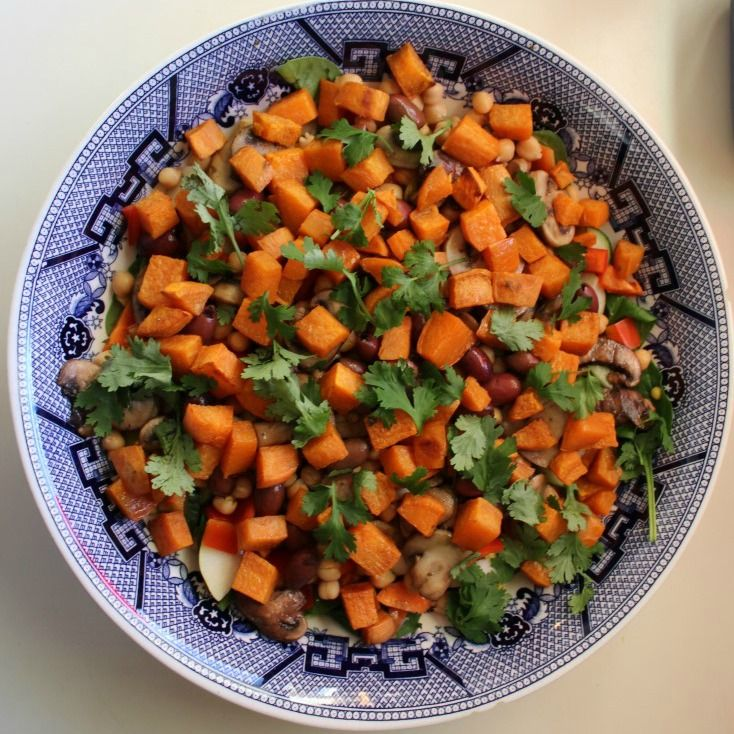 I do so love a salad with a bit of everything.  Especially Sweet Potato.
