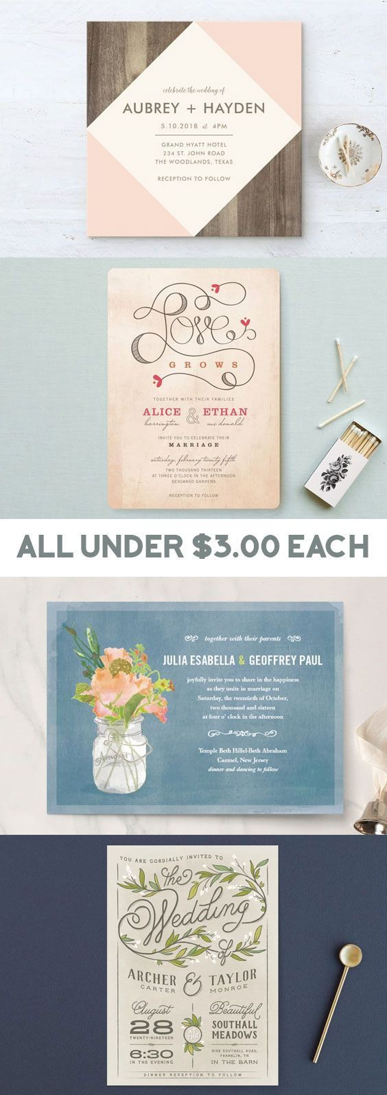 Best 44 Wedding Invitations Ideas On Pinterest Card Wedding