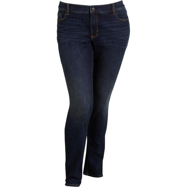 Old Navy Womens Plus Smooth & Slim Mid Rise Skinny Jeans ($44) ❤ liked on Polyvore featuring jeans, pants, bottoms, plus size, blue, women, skinny leg jeans, old navy jeans, blue skinny jeans and slim straight jeans