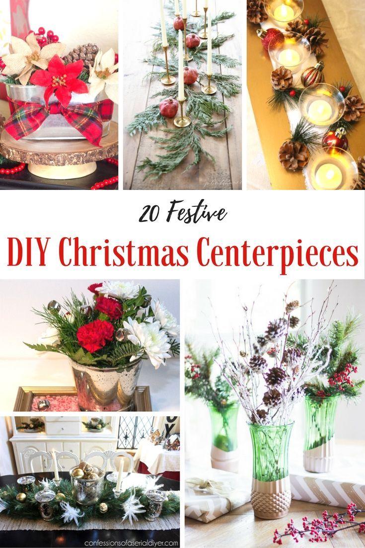 How to Make a Christmas Centerpiece - 20 Easy DIYs