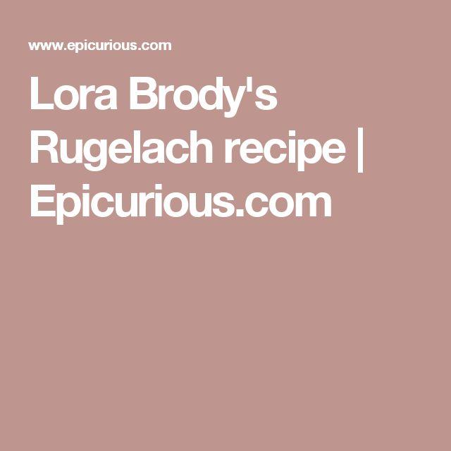 Lora Brody's Rugelach recipe   Epicurious.com