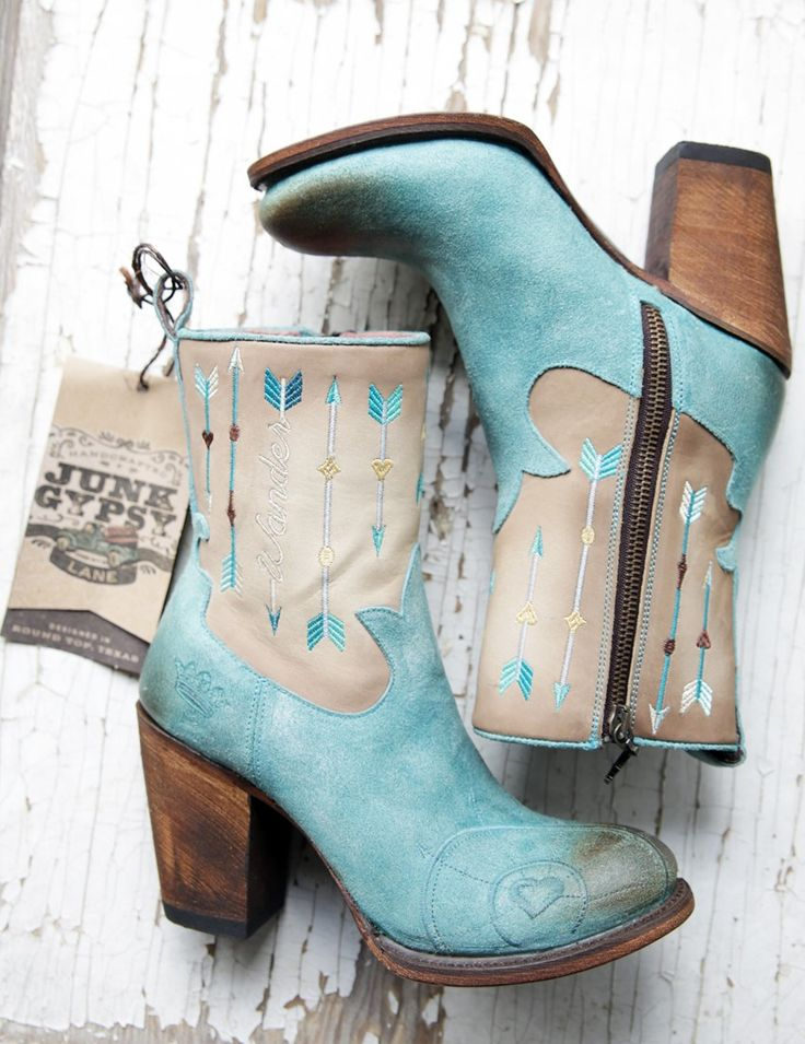 Turquoise WANDERLUST BOOTS - Junk GYpSy co.