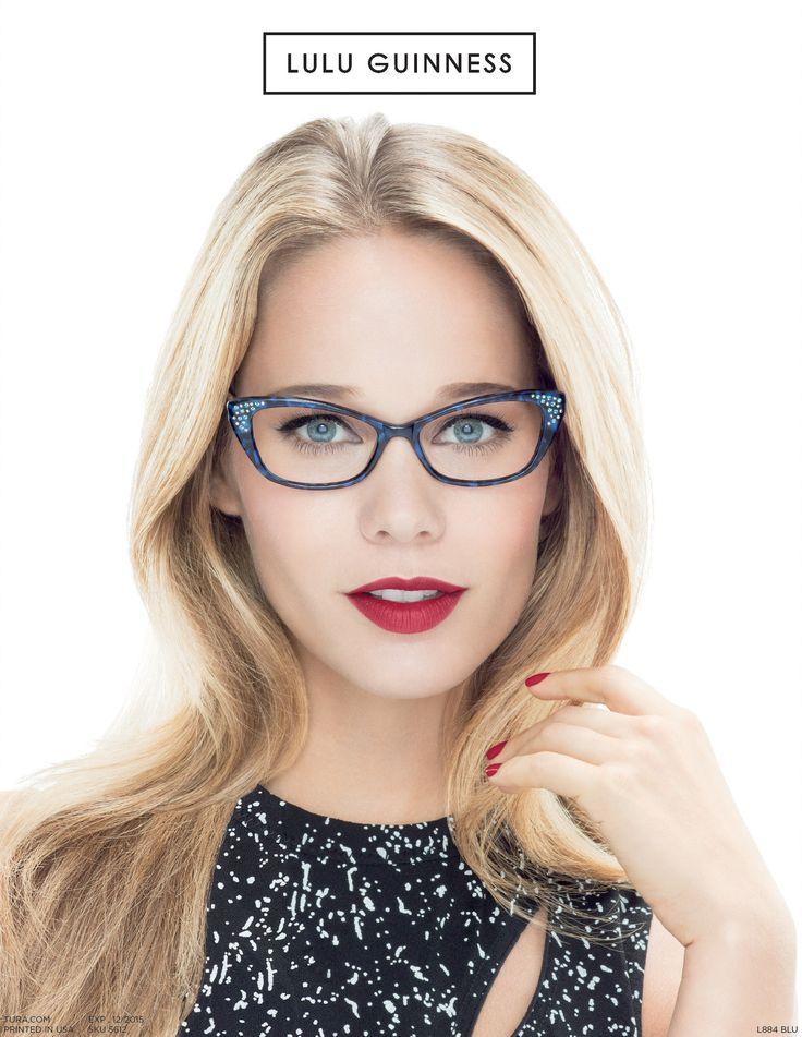 fashion optical glasses  Lulu Guinness Women\u0027s Fashion Optical Frames L884 Blue