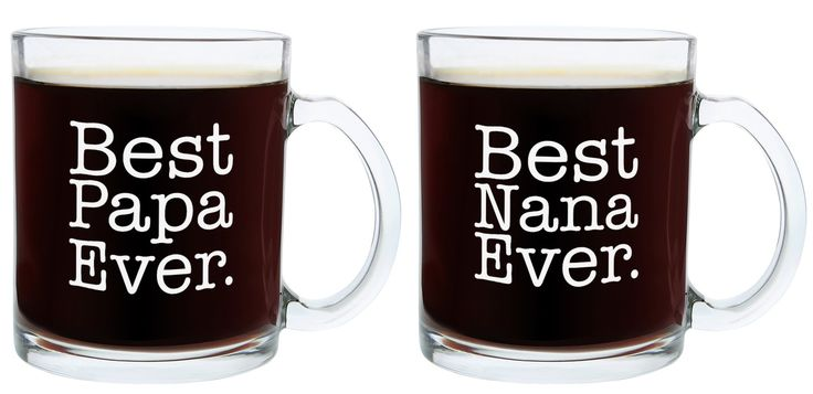 Christmas Gifts for Nana and Papa Best Ever Funny Fathers Day Gift Glass Coffee Mug Tea Cup