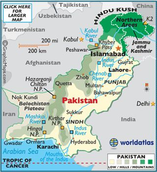 Pakistan Map / Geography of Pakistan / Map of Pakistan - Worldatlas.com