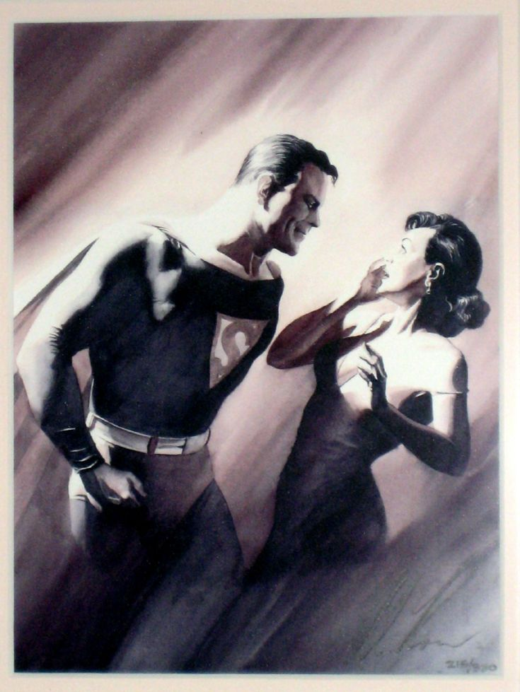 Alex Ross's version of Superman & Lois Lane 1st Meeting originally illustrated in Action Comics 1, 1939