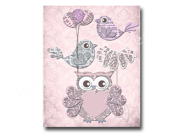 Hey, I found this really awesome Etsy listing at https://www.etsy.com/listing/212114845/owl-nursery-decor-pink-owl-decor-kids
