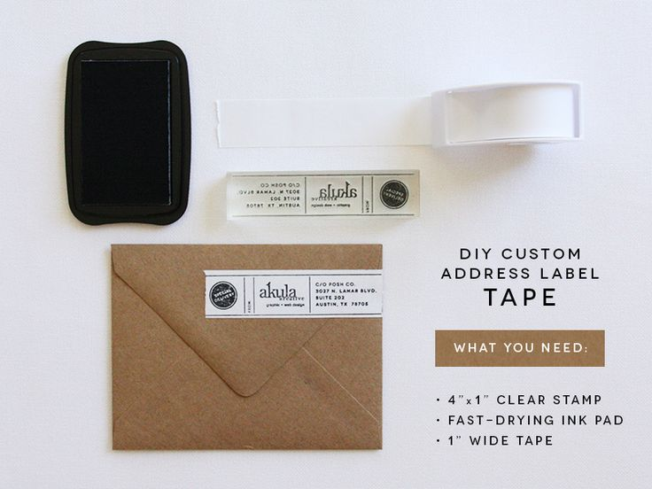 DIY custom address label tape - Akula Kreative