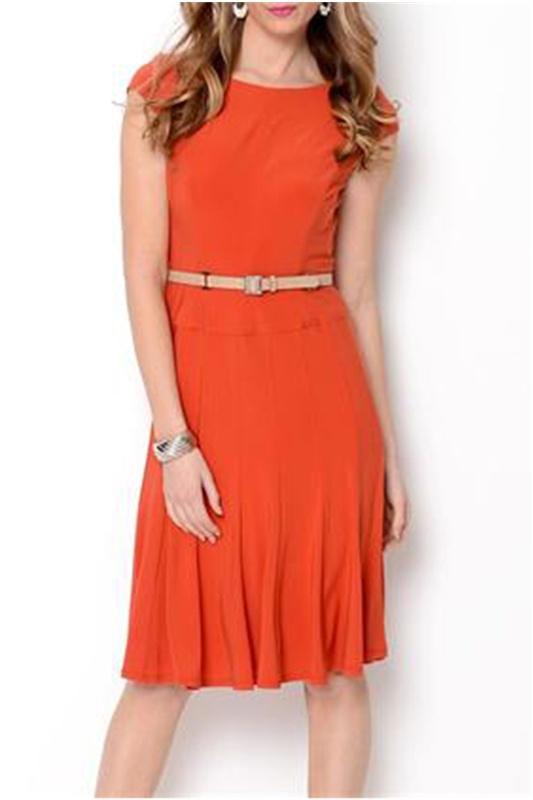 Anne Klein Belted A-Line Dress - Enviius