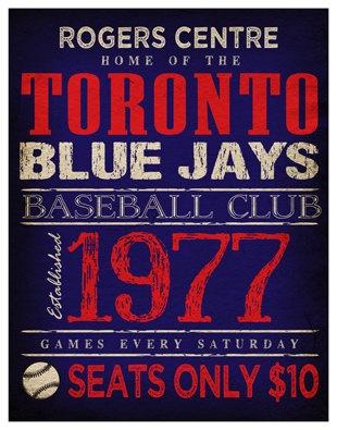 Toronto Blue Jays Print -  11x14 - Rogers Centre Poster. $22.00, via Etsy.