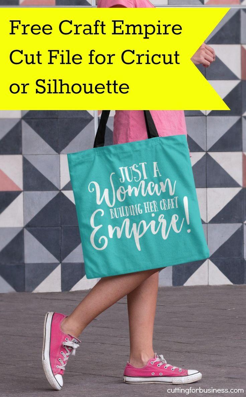 Free Craft Empire SVG Cut File for Silhouette Cameo or Cricut Explore - by cuttingforbusiness.com