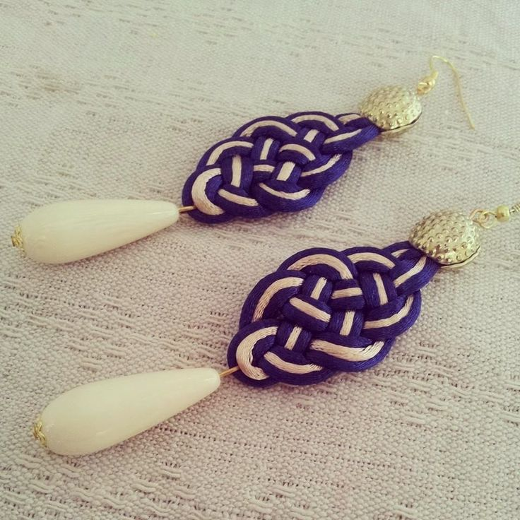orecchini intrecciati a mano handmade earrings