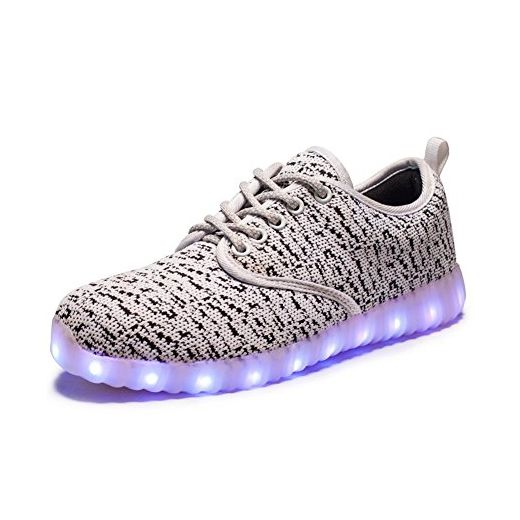 iPretty Unisex Sportschuhe mit Leucht LEDs Winterschuhe gefüttert Damen Herren Sneaker 7 Farbe Blinken USB Aufladen Laufschuhe Outdoorschuhe-WT-39 - Sneakers für frauen (*Partner-Link)