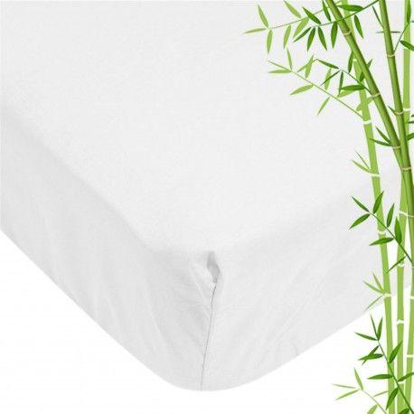 Linge de lit- Alèse bébé en bambou blanc - 40*80 cm -  Existe aussi en différente taille: 70*140 cms et 60*120 cms