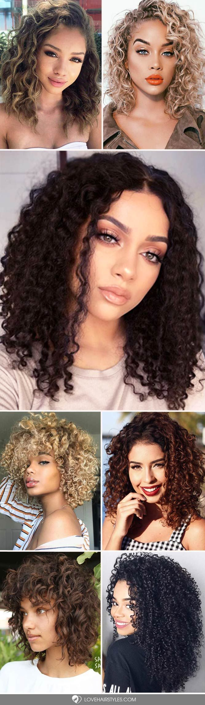 Curly hair always looks adorable, and we collected hairstyles for curly hair to prove you that. We are sure you will save many pics for later! #curlyhair #curlyhairstyles #hairstyles