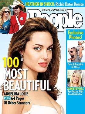 Most Beautiful 2006: When she was featured on PEOPLE's cover, Jolie had already distinguished herself as a humanitarian who regularly went on missions to developing countries, distributing food to the poor, even sleeping on frozen ground after a hard day's work. Her beauty regimen was just as un-diva-like: a little face powder, mascara and a dab of Vaseline on her lips.