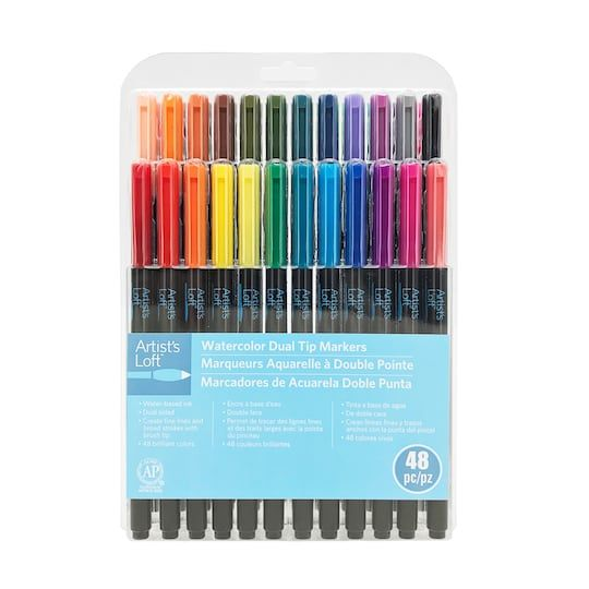 48 Piece Watercolor Dual Tip Markers By Artist S Loft Michaels