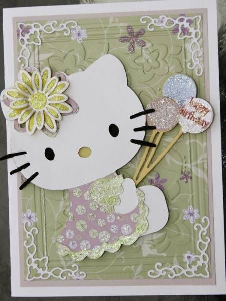 Hello Kitty Card by Nancy on Prairie - Cards and Paper Crafts at Splitcoaststampers
