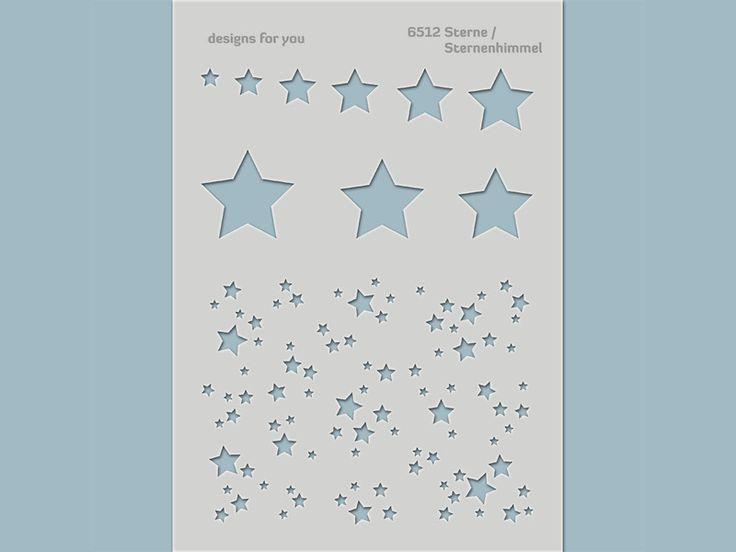 Schablonen - Schablone 6512 Sterne / Sternenhimmel z.B. Karten - ein Designerstück von designs-for-you bei DaWanda