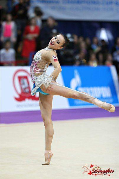 Yeon Jae Son (Korea) won bronze in hoop at World Cup (Espoo) 2016