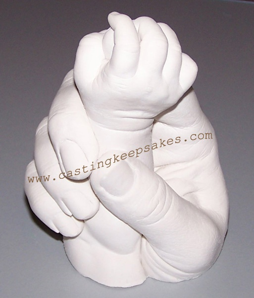 Baby hand cast