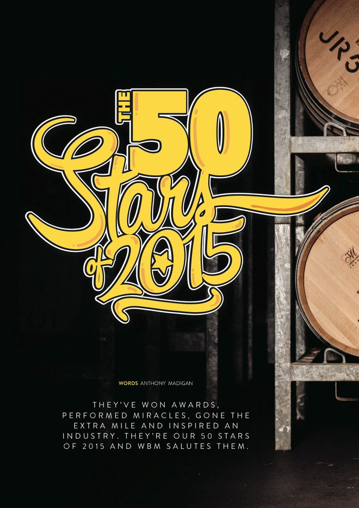 WBM Magazine January/February 2016 edition. 50 stars of 2015 article cover page.