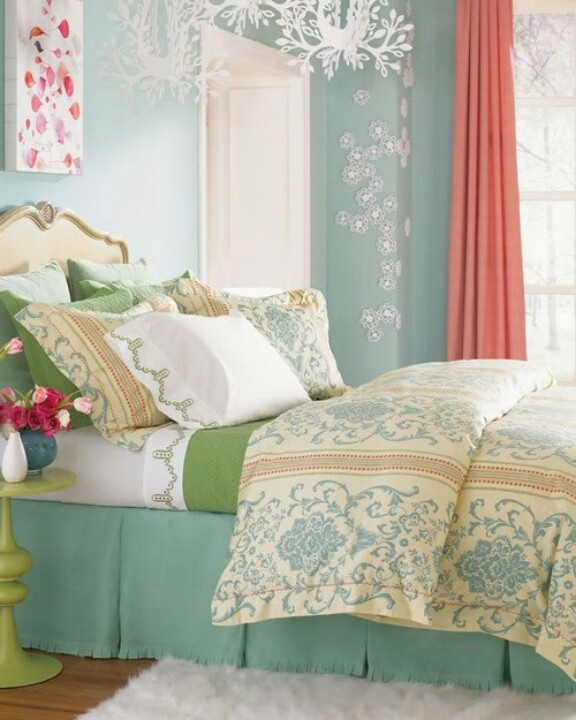 183 Best Orange Coral Yellow Bedroom Images On Pinterest: 17 Best Images About Green Bedrooms On Pinterest