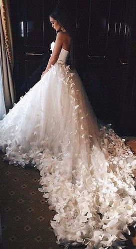 wedding dresses- perfect to remember my grandfather #white butterflies