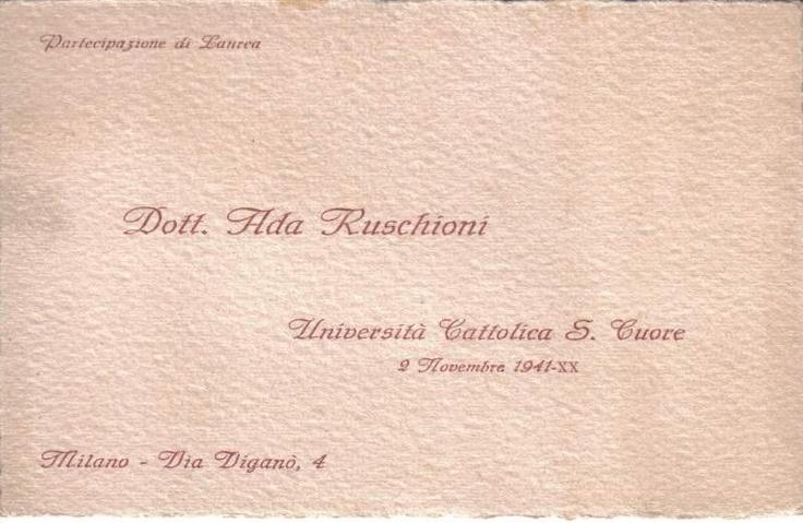 Partecipazione laurea-ada ruschioni a Tortona - eBay Annunci