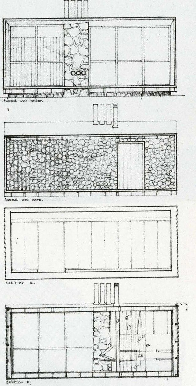 "Elevations for ""The Box"" by Ralph Erskine"