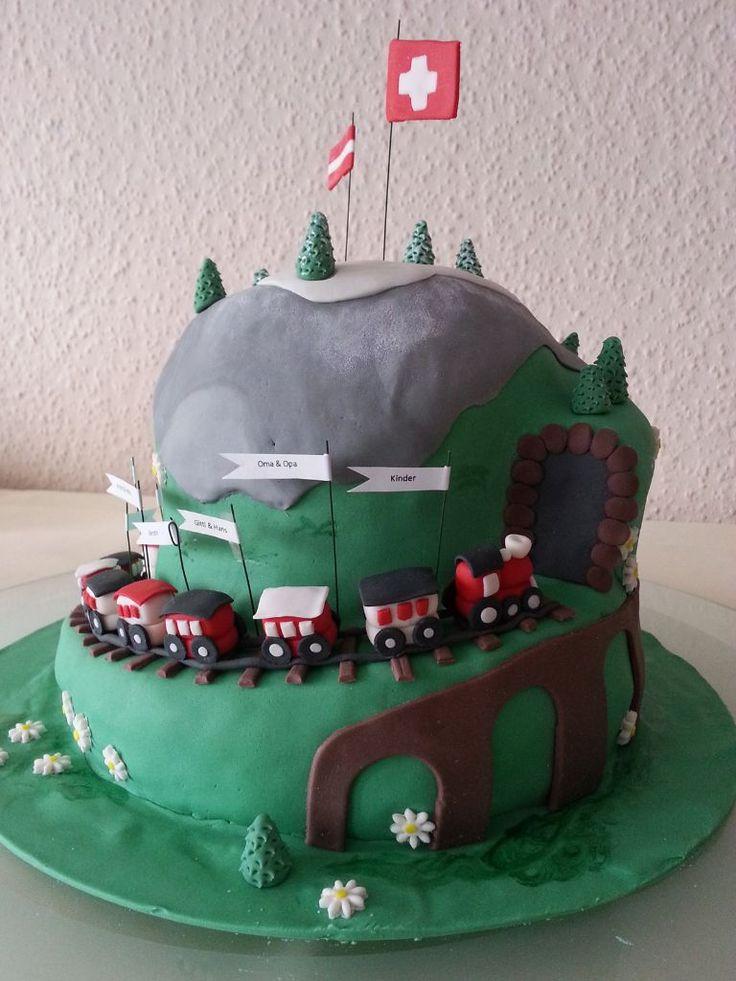 Motivtorte Zugfahrt *Train Cake*