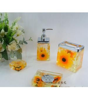 Best Sunflower Bathroom Ideas On Pinterest Wall Vases - Floral bathroom accessories set for bathroom decor ideas