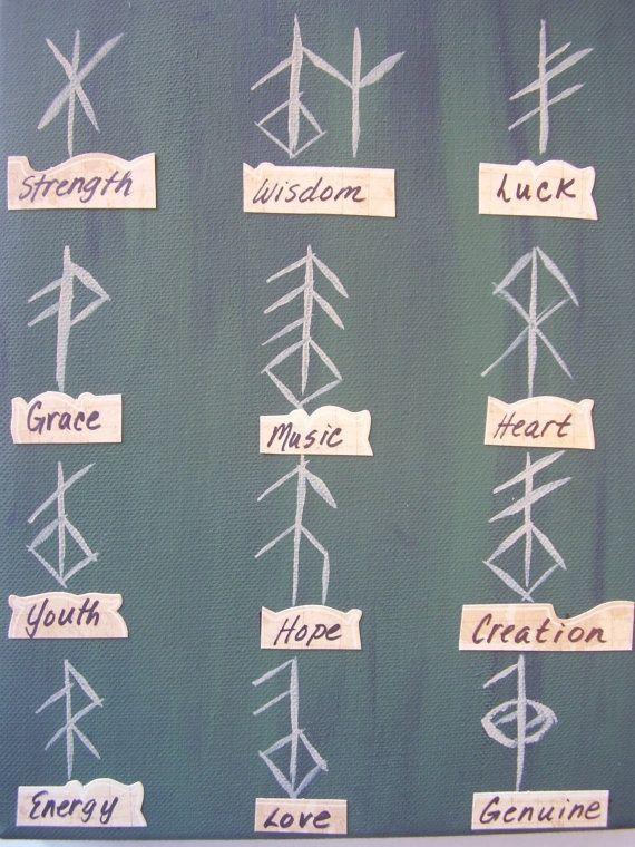 Viking rune symbols.