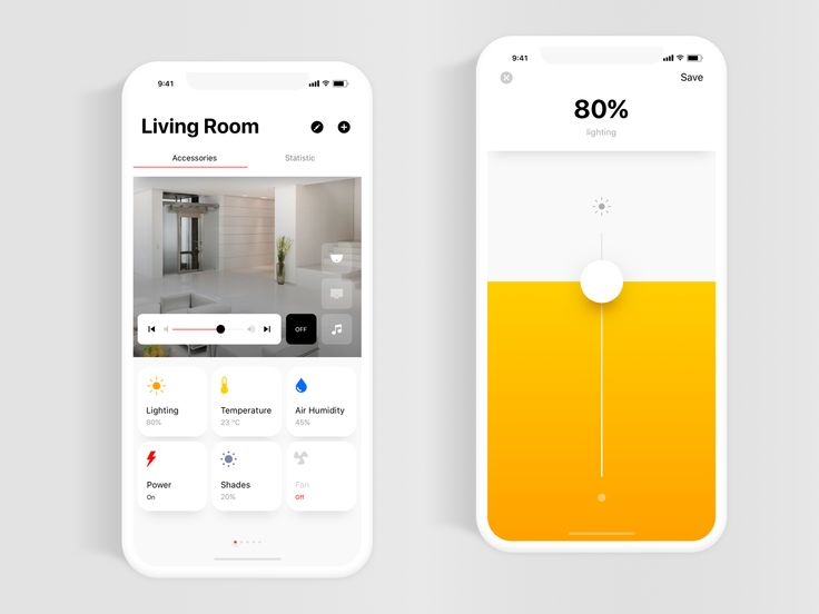 Smart Home Application by Alexandr M. | dribbble