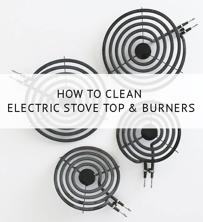 How to Clean Electric Stove Top Coil Burners Stove top