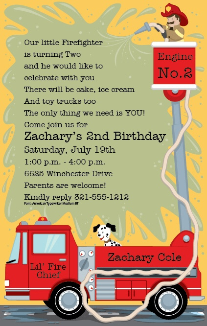 39 best fire truck birthday ideas images – Fire Truck Birthday Invitation