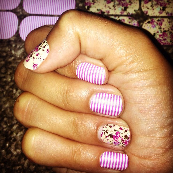 Orchid skinny matte and Sweet Symphony floral Jamberry Nails. http ...