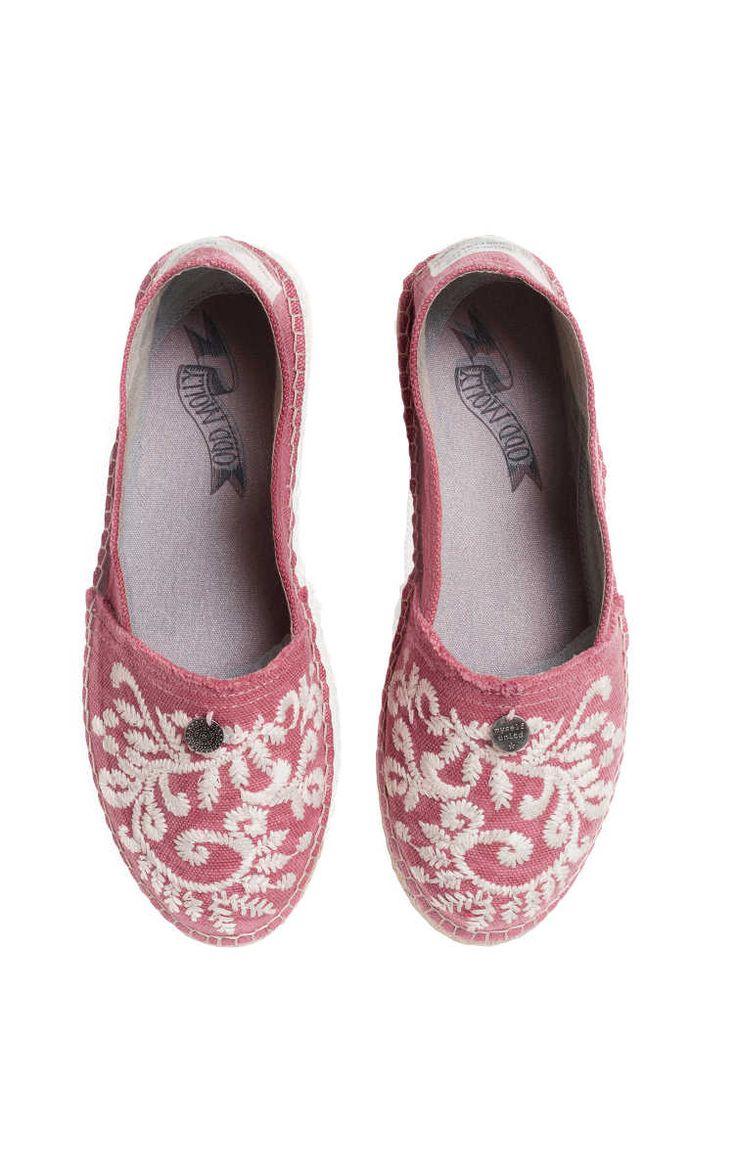 Espadrillos Oddspadrillos Embroidered MISTY PINK - Odd Molly - Designers - Raglady