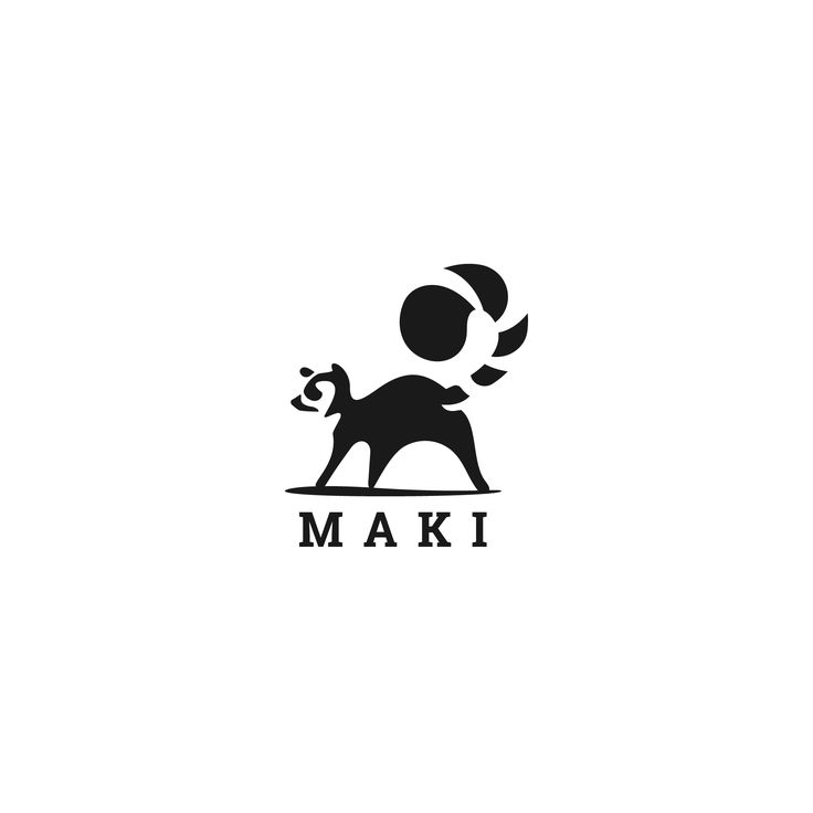 Lemur character design for Maki. a custom logo design project by brandsbysam.com    Get your design done today!