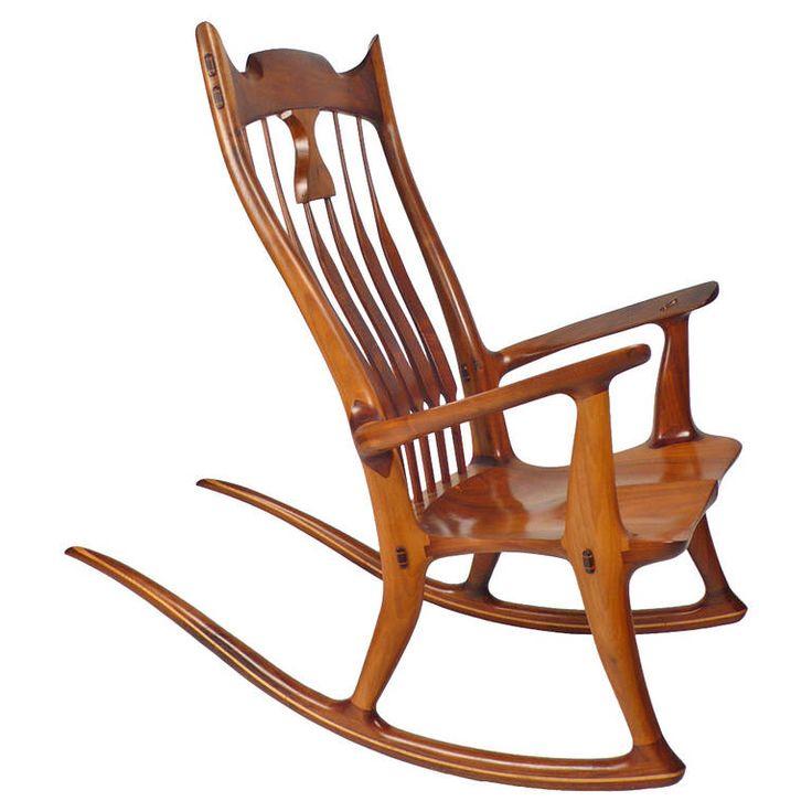 dave hentzel handcrafted rocking chair