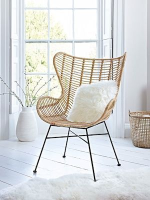 1950s-inspired rattan chairs from Cox & Cox