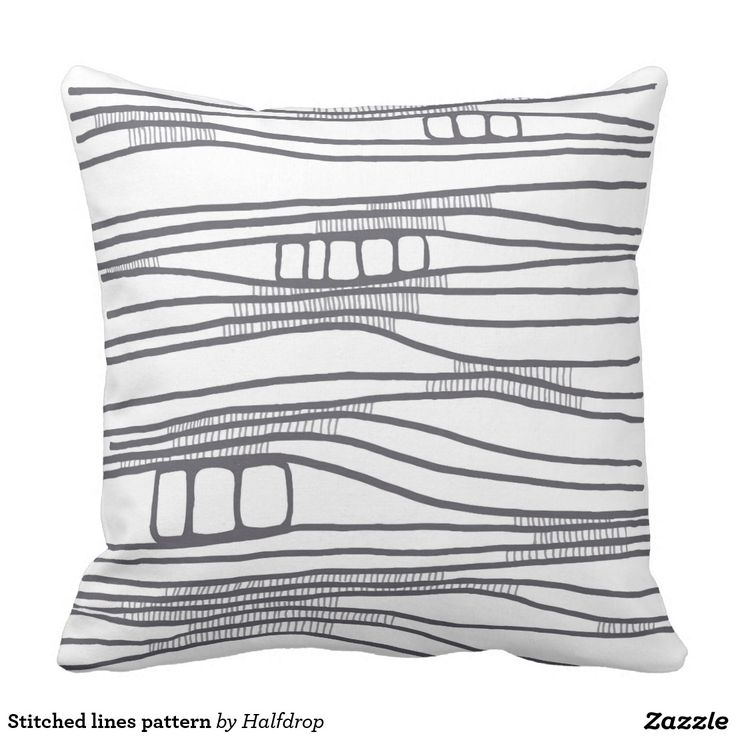 Stitched lines pattern throw pillow