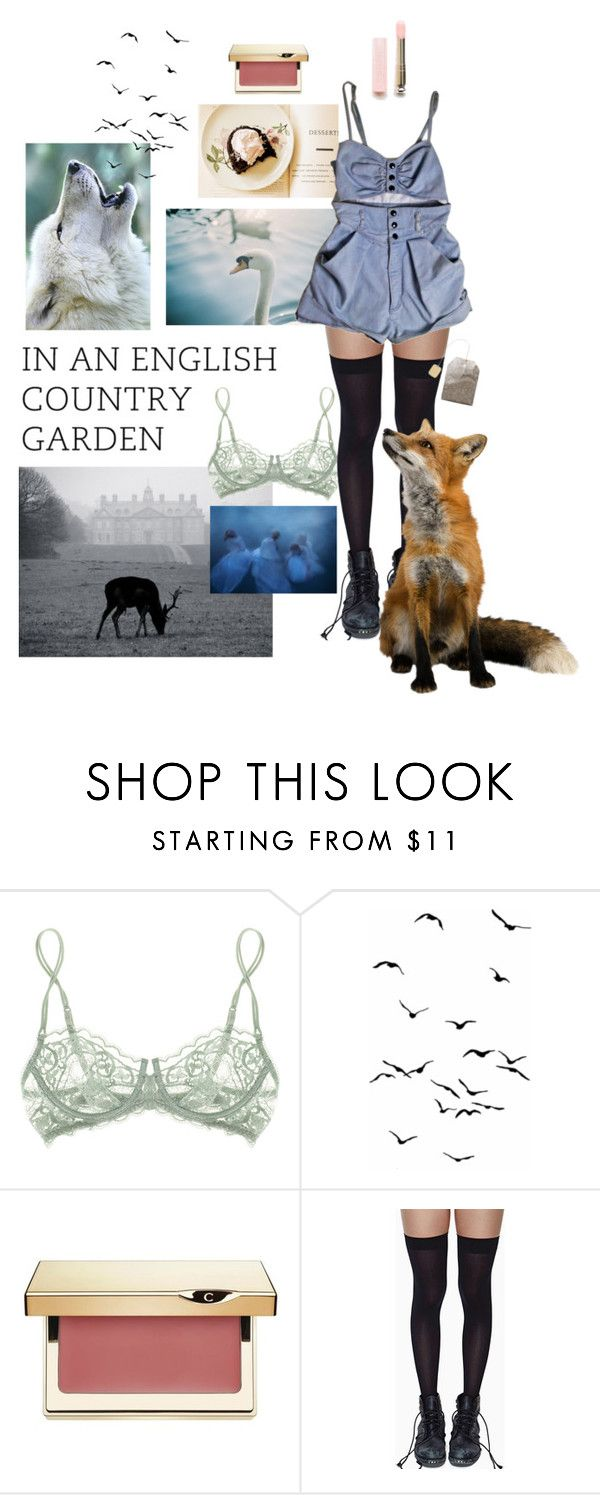 """""""SWEET TEA,  2017"""" by forever-seventeen ❤ liked on Polyvore featuring La Perla, Clarins and Leg Avenue"""